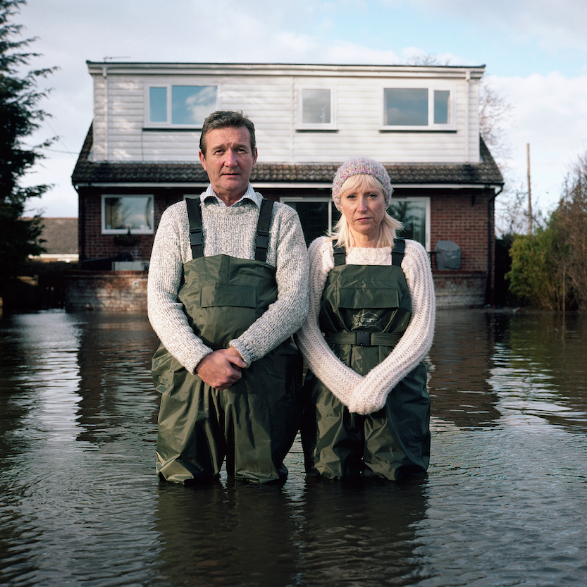 eff et Tracey Waters, Staines-upon-Thames, Surrey, Royaume-Uni, février 2014, série Portraits submer